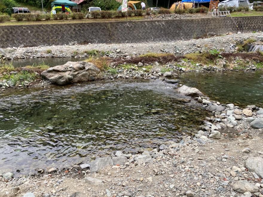 ウエストリバーオートキャンプ場の釣り堀