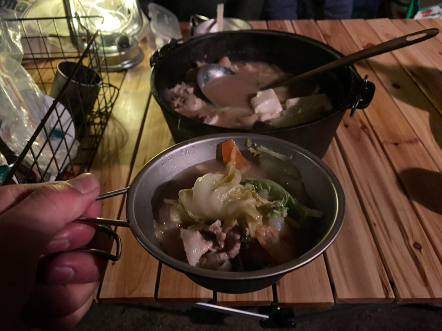 メープルで鍋